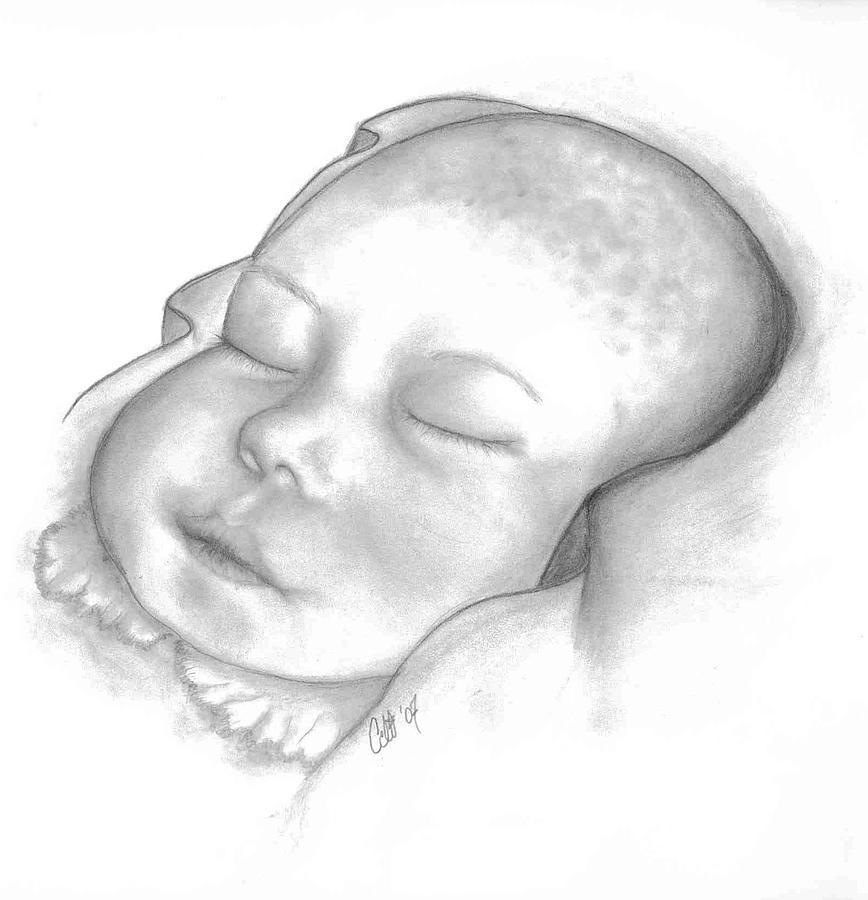 Babies Drawing - Jennah Brooke by Celi Hester