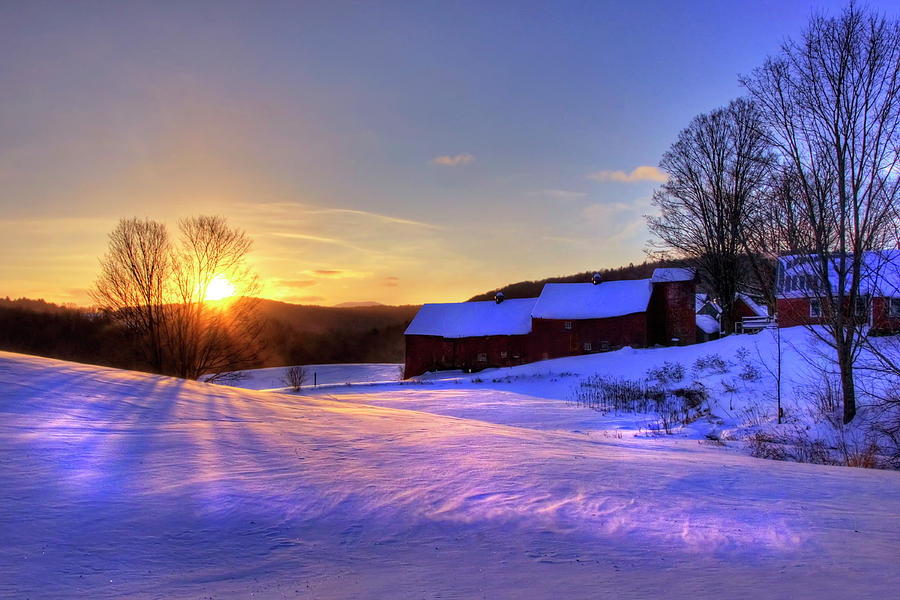 Jenne Farm Sunrise - Vermont by Joann Vitali
