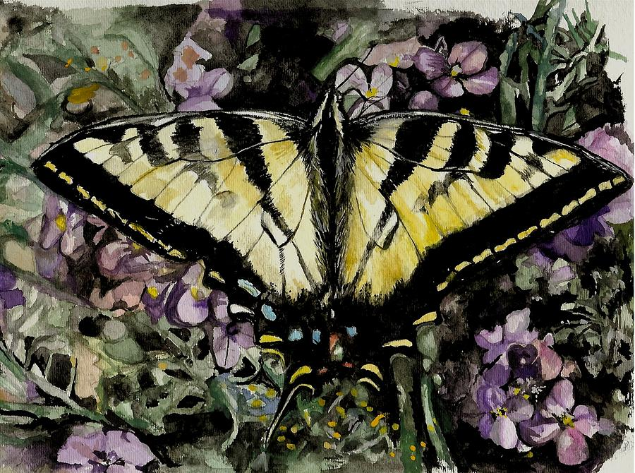 Butterfly Painting - Jennifers Delight by Laneea Tolley