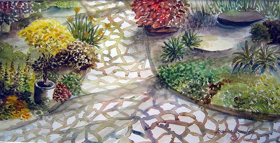 Shrubs Painting - Jennifers Garden by Joanne Smoley