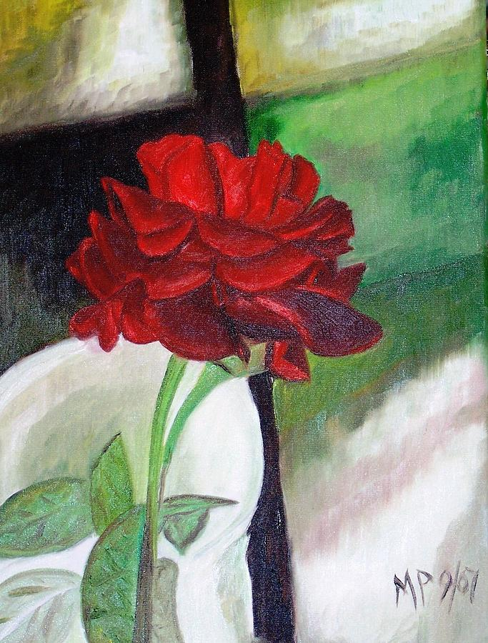 Floral Painting - Jennifers Rose by Madeleine Prochazka