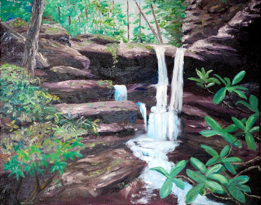 Jenny Wiley Painting - Jenny Falls by Phil Burton