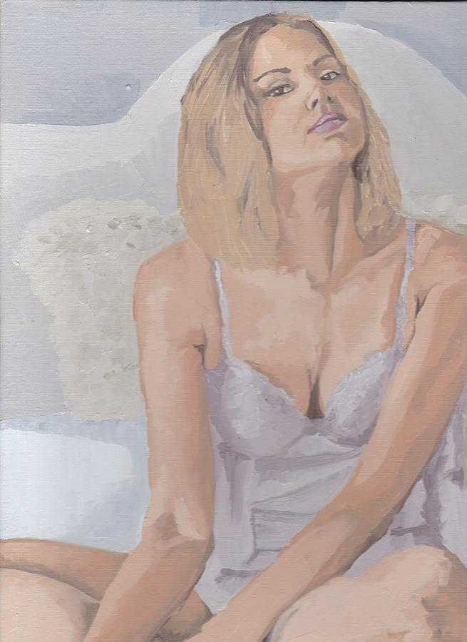 Woman Painting - Jenny In White by Stephen Panoushek