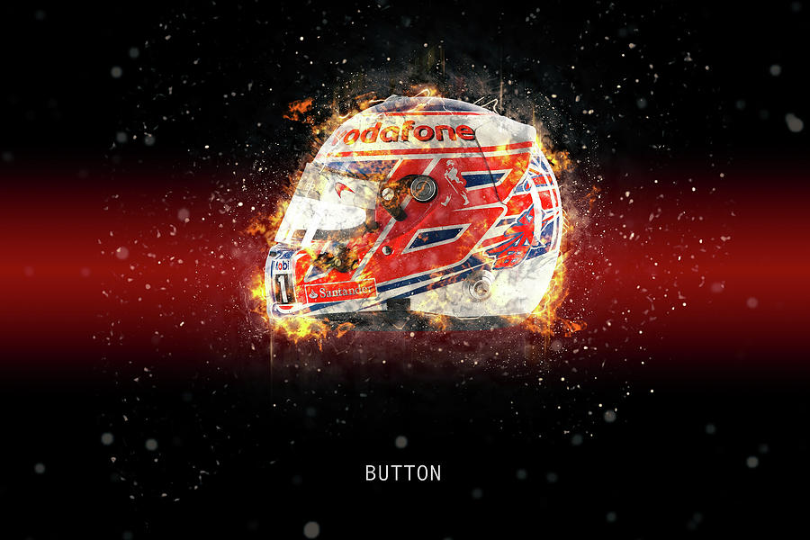 Jenson Button Digital Art - Jenson Button  by Airpower Art