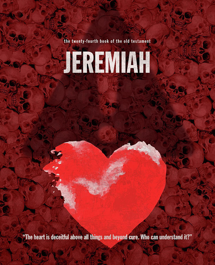Jeremiah Books Of The Bible Series Old Testament Minimal Poster Art Number  24 by Design Turnpike