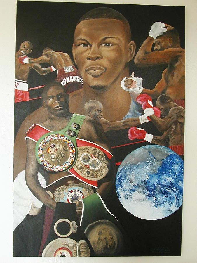 Portrait Painting - Jermain Taylor Montage by Angelo Thomas