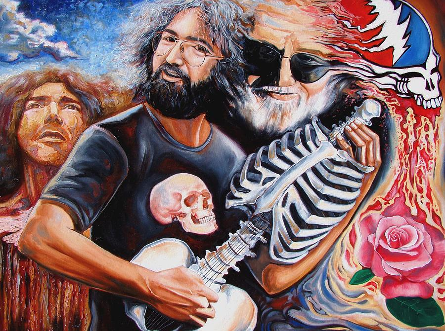 Grateful Dead Wall Art - Painting - Jerry Garcia And The Grateful Dead by Darwin Leon  sc 1 st  Fine Art America & Grateful Dead Art | Fine Art America