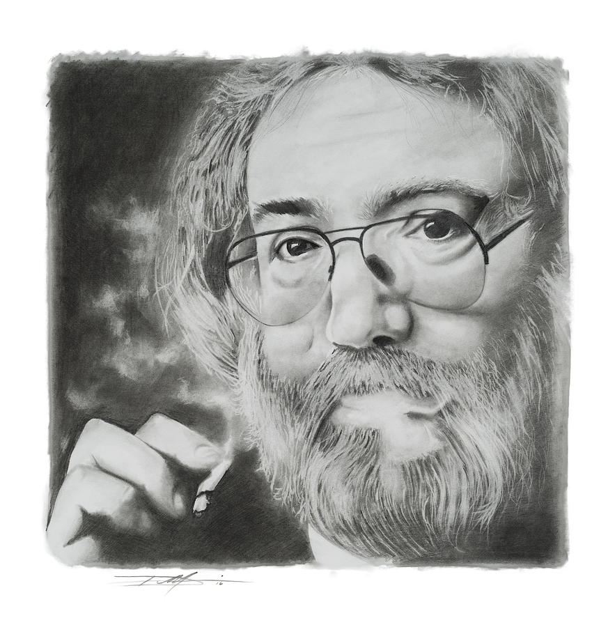 Jerry Drawing - Jerry Garcia by Don Medina