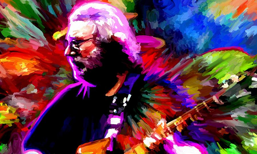 Jerry Garcia Painting - Jerry Garcia Grateful Dead Signed Prints Available At Laartwork.com Coupon Code Kodak by Leon Jimenez