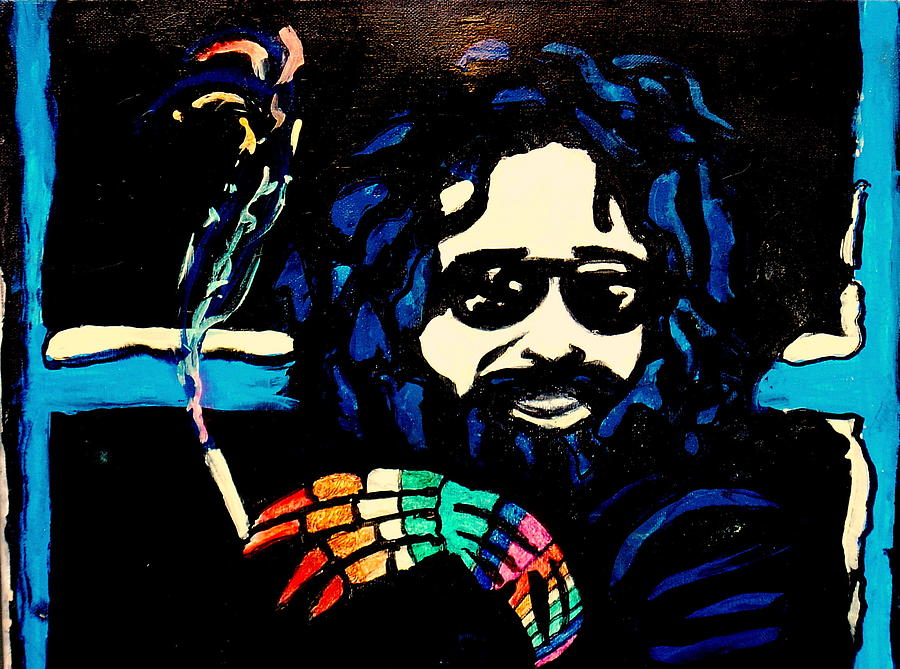 Jerry Garcia Painting - Jerry Garcia Interview by Gayland Morris