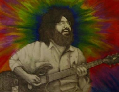 Jerry Garcia Mixed Media - Jerry Garcia by Janet Gioffre Harrington