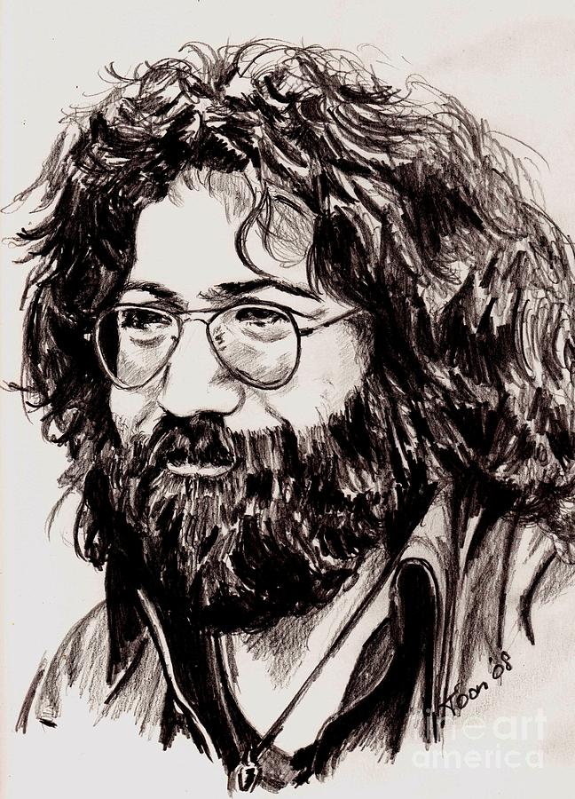jerry garcia drawing by toon de zwart