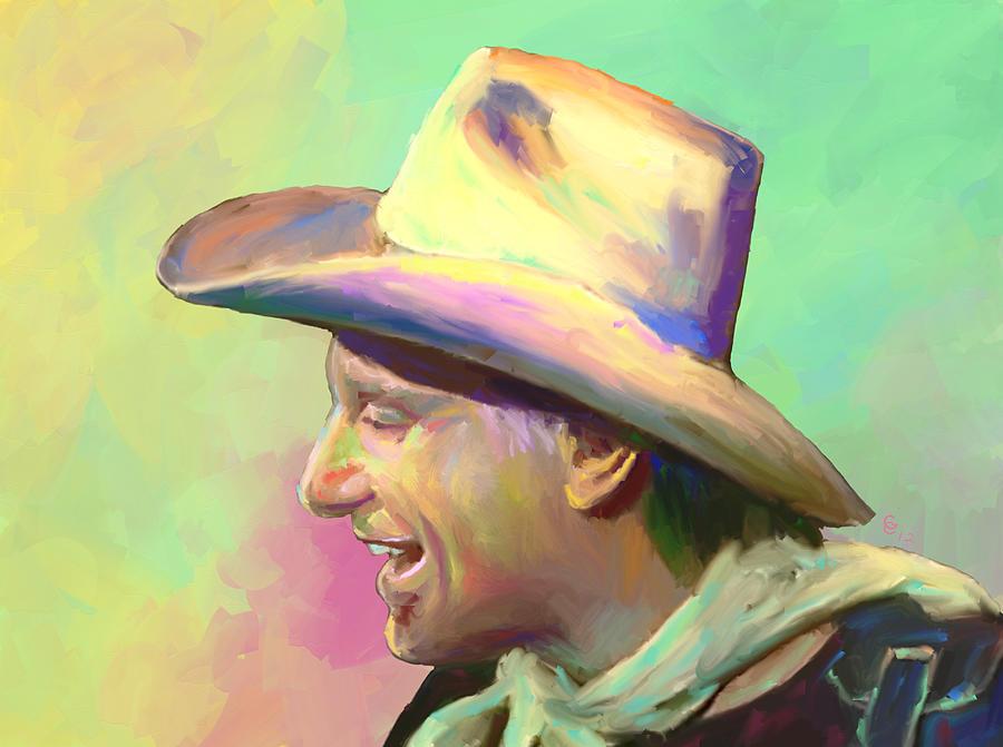 Jerry Jeff Walker Mixed Media - Jerry Jeff The Gypsy Songman by GCannon