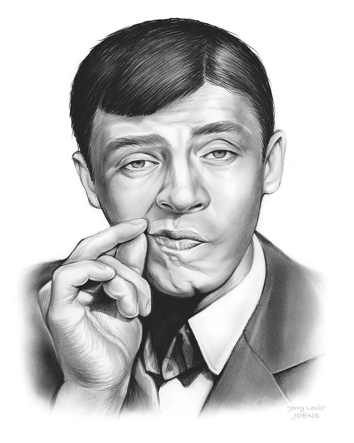 Jerry Lewis Drawing - Jerry Lewis by Greg Joens