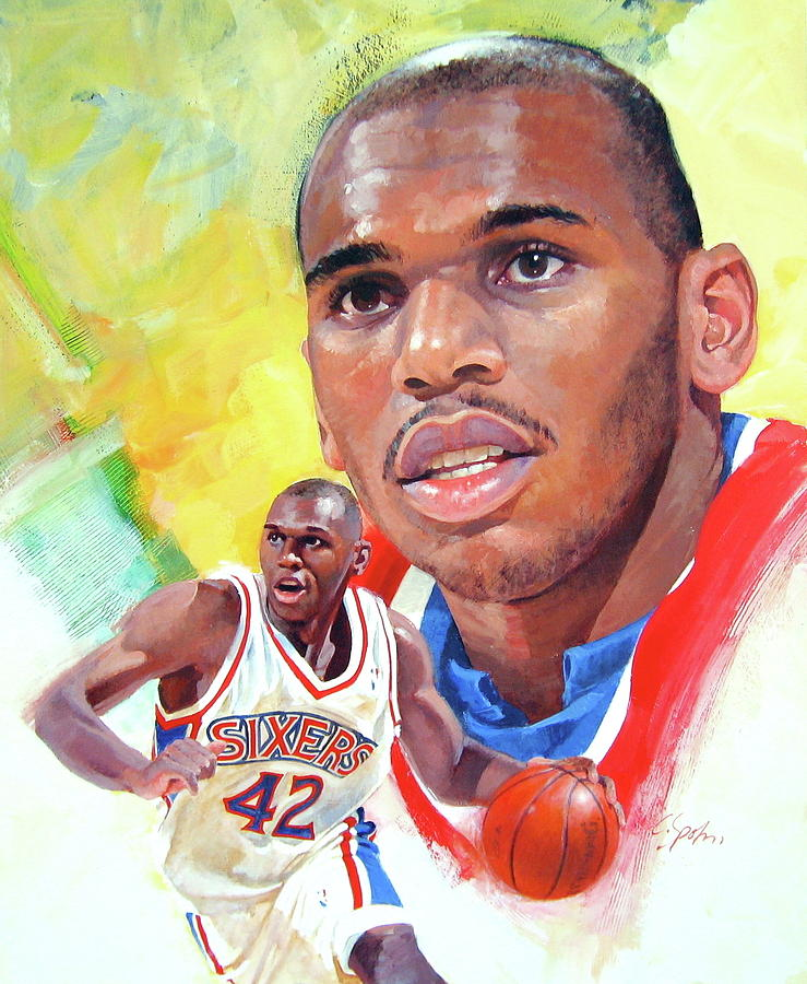 Acrylic Painting - Jerry Stackhouse by Cliff Spohn