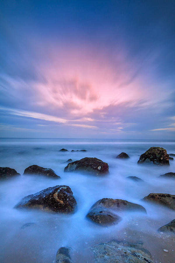 Rocks Photograph - Jersey Afterglow by Rick Berk