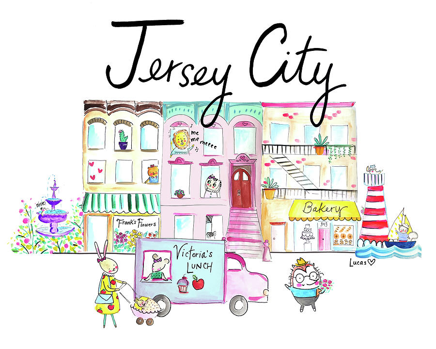 Jersey City Painting - Jersey City by Ashley Lucas