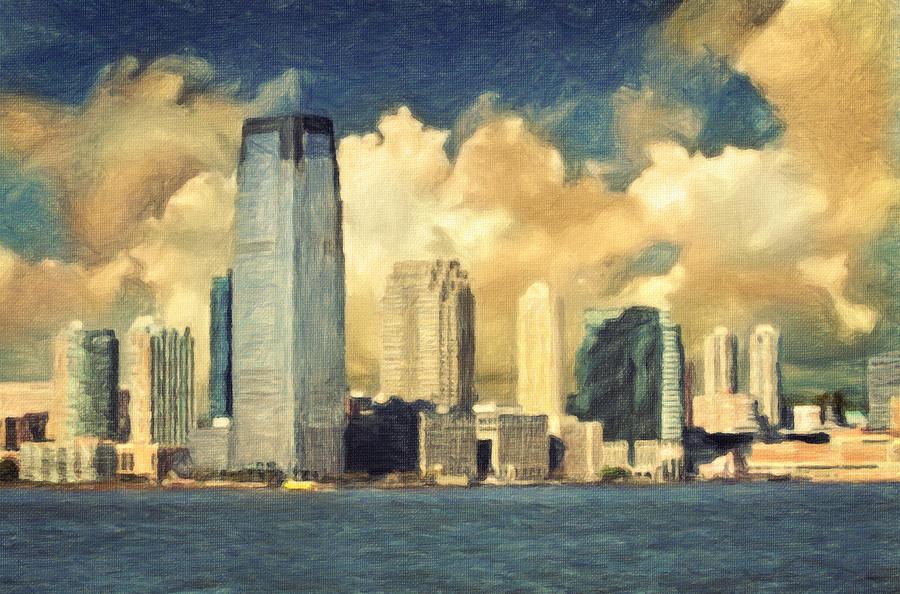 Jersey City Skyline Painting