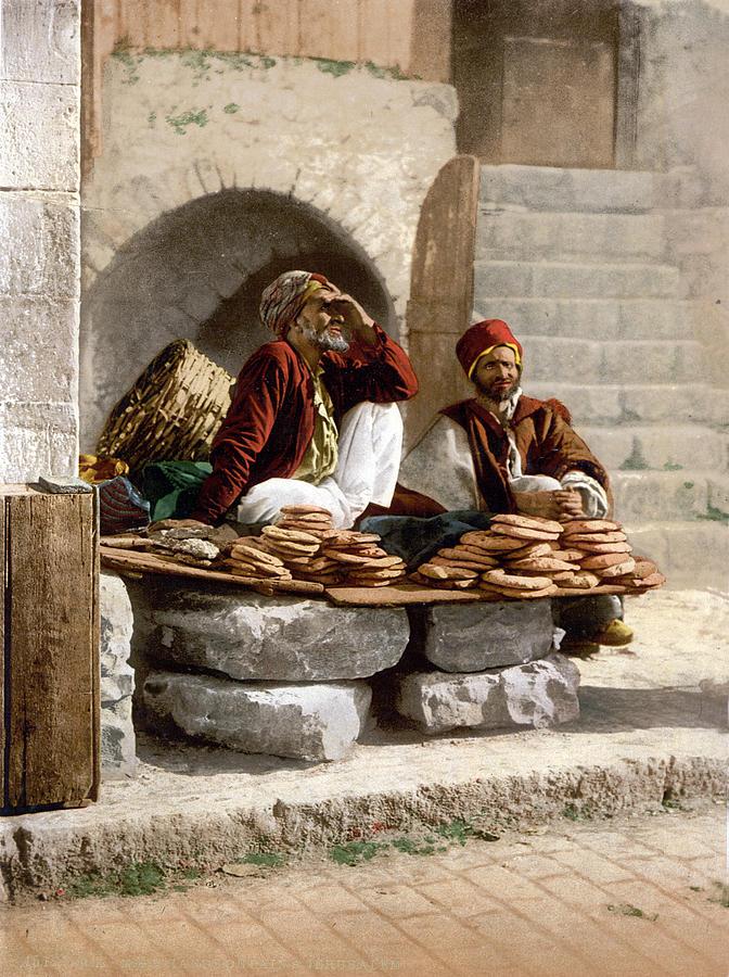 Jerusalem Photograph - Jerusalem - Bread Seller by Munir Alawi