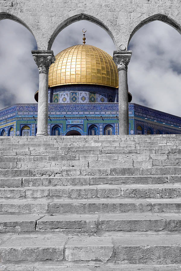 Dome Of The Rock Photograph - Jerusalem - The Dome by Munir Alawi