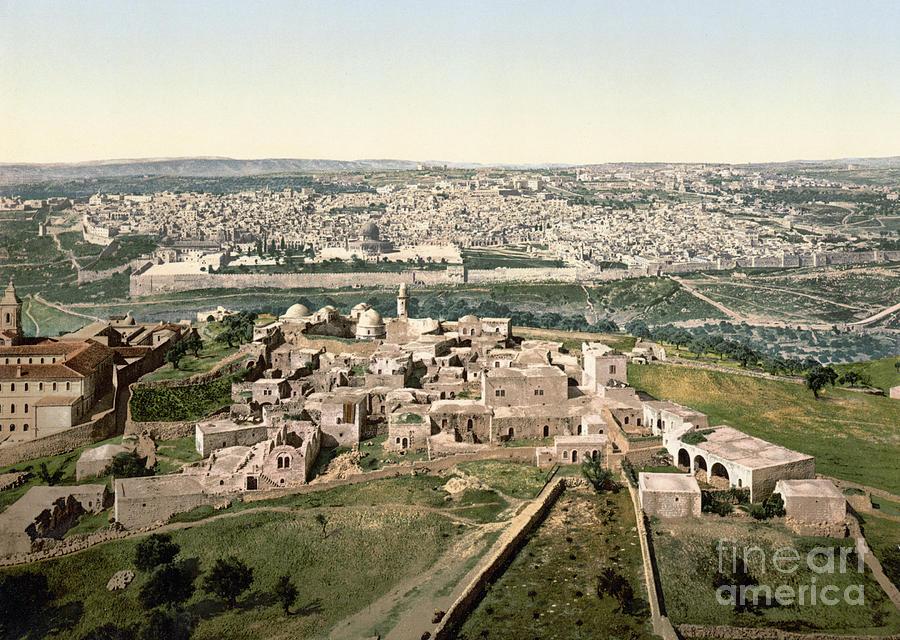 1900 Photograph - Jerusalem, C1900 by Granger