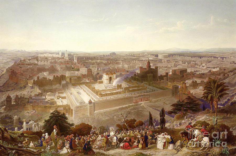 Israel Painting - Jerusalem In Her Grandeur by Henry Courtney Selous