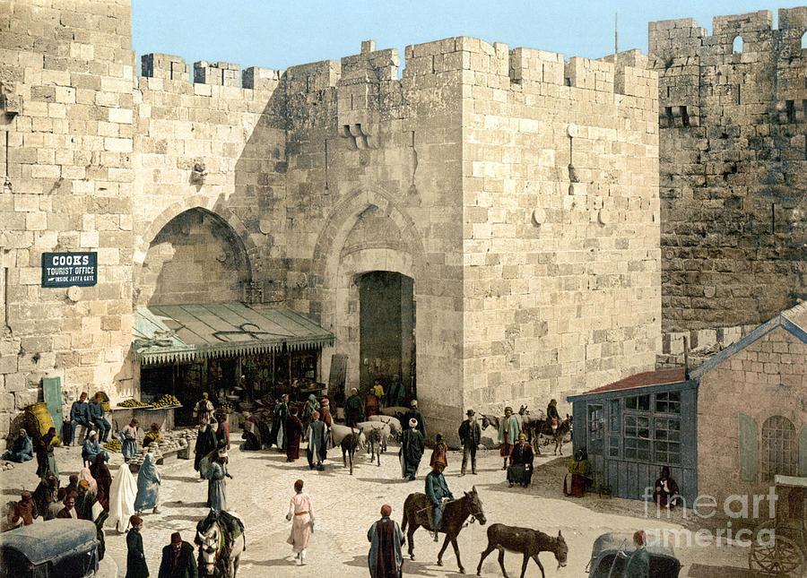 1900 Photograph - Jerusalem: Jaffa Gate by Granger