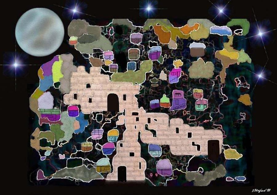 Jerusalem Moon Digital Art by Sher Magins