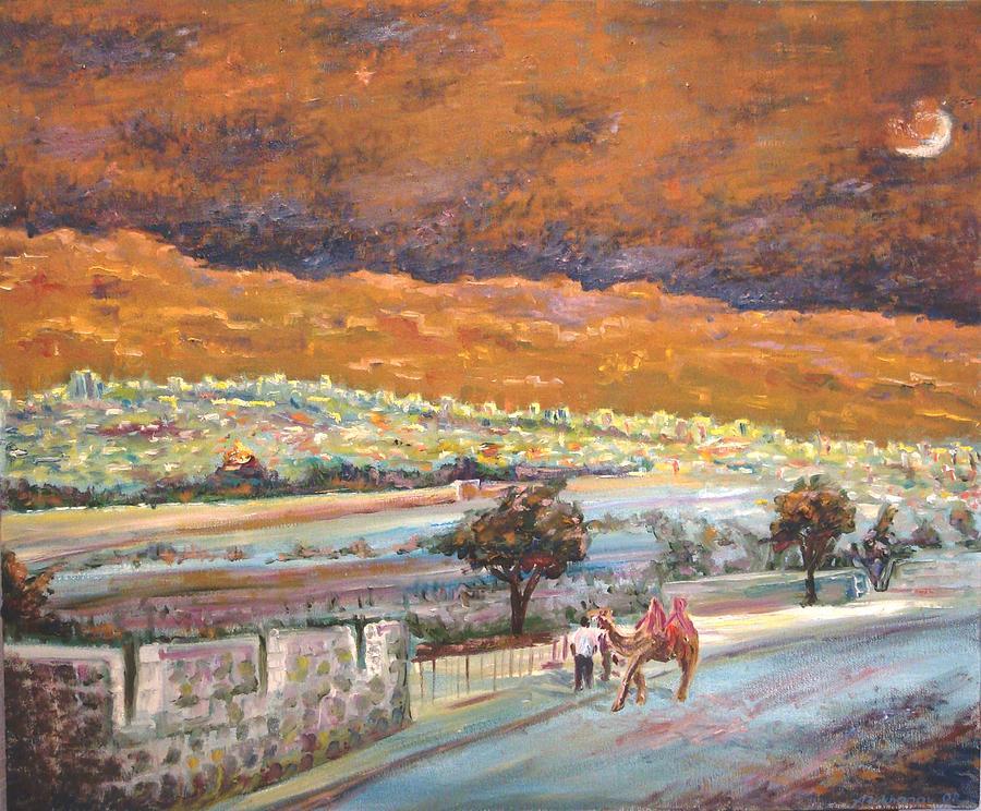 Jerusalem Painting - Jerusalem Night by Alexander Bukhanov