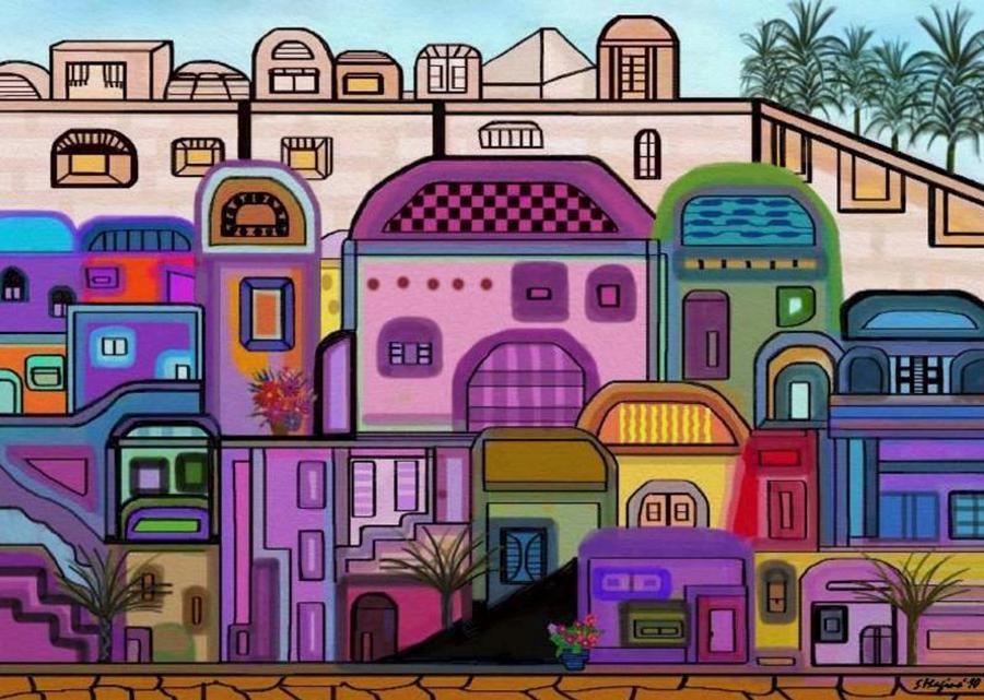 Jerusalem Tapestry Digital Art by Sher Magins