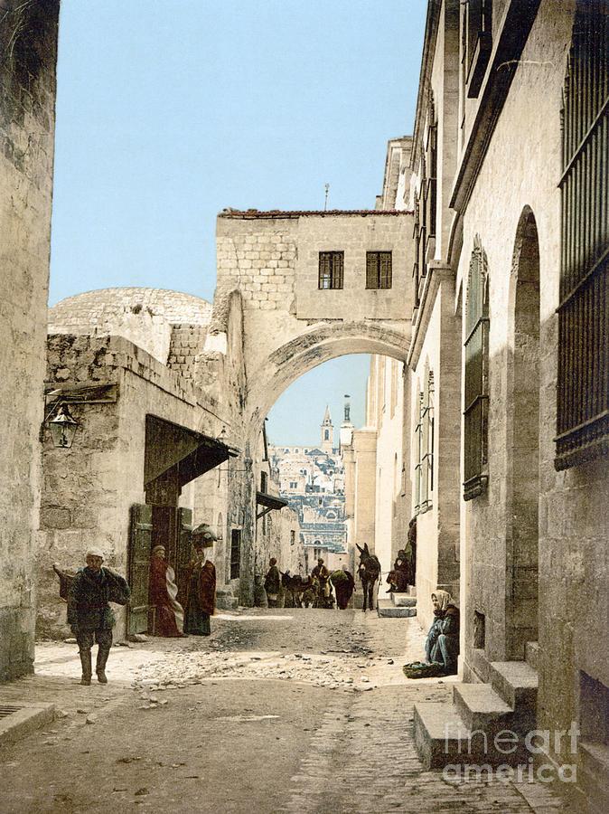 1900 Photograph - Jerusalem: Via Dolorosa by Granger