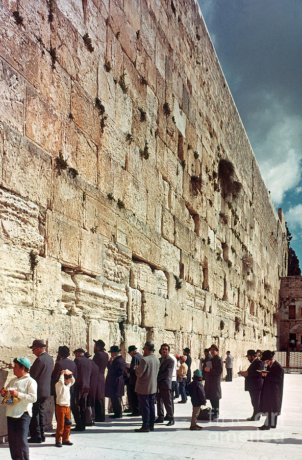 20th Century Photograph - Jerusalem  Wailing Wall - To License For Professional Use Visit Granger.com by Granger