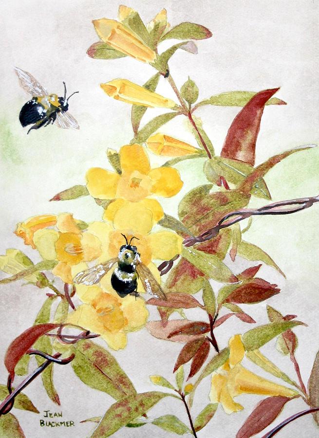 Jasmine Painting - Jessamine Bee Mine by Jean Blackmer