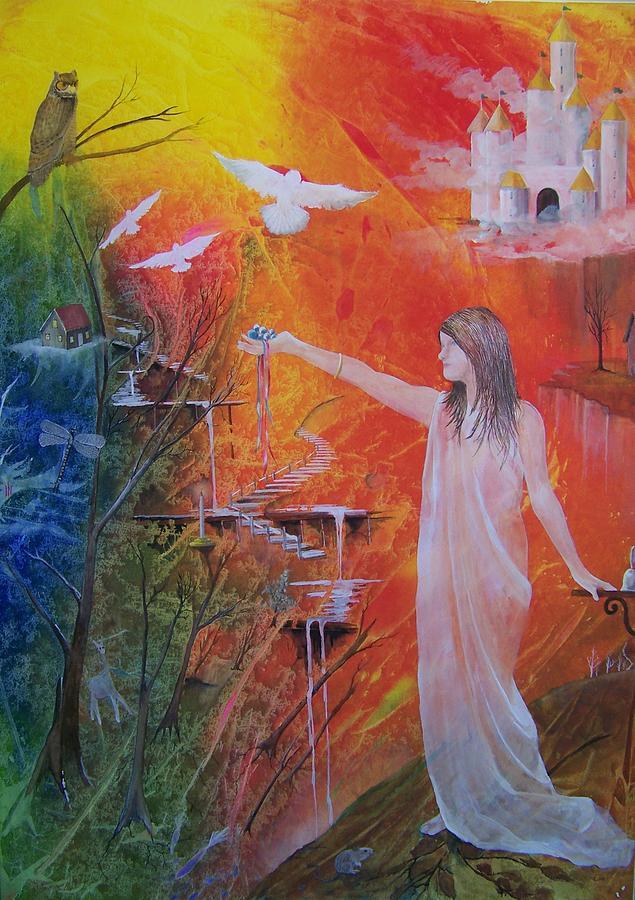 Girl Painting - Jesses Offering by Jackie Mueller-Jones