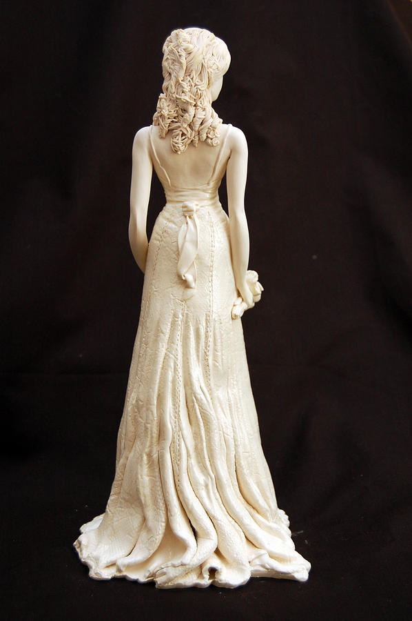 Porcelain Sculpture - Jessicas Bridal Gown by Gay Henderson
