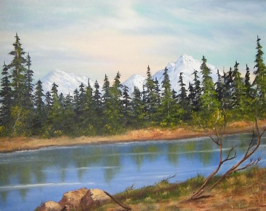 Jessip River Painting by Larry Doyle