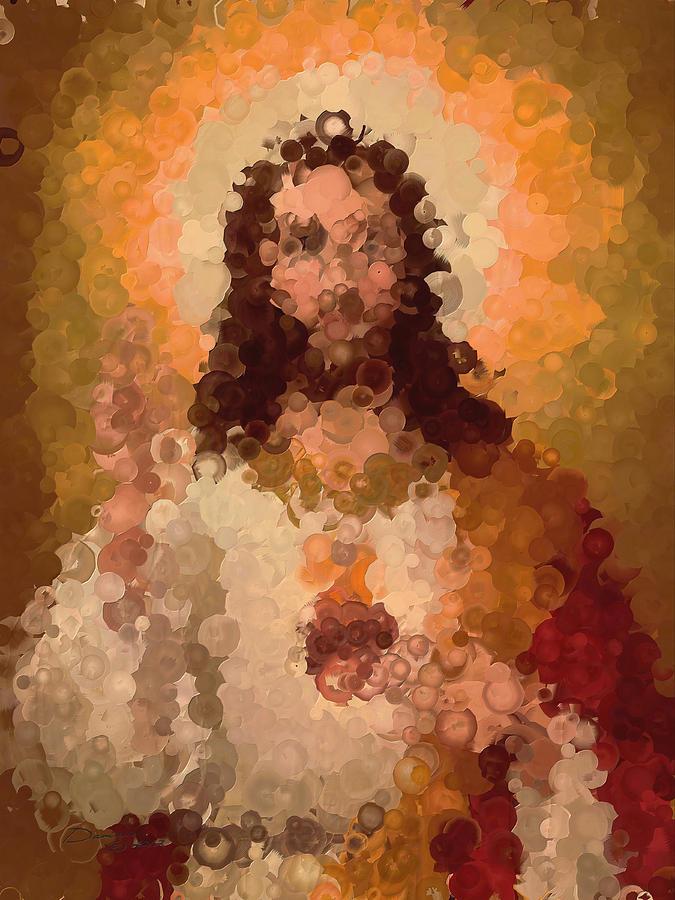Jesus Abstract Painting by Damiano Navanzati
