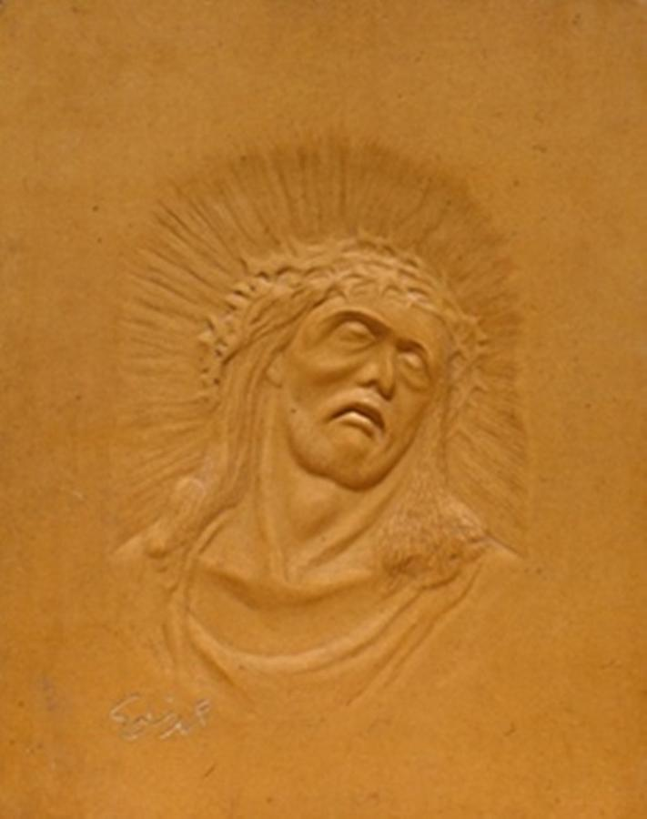 Jesus Relief - Jesus by Wall sculpture artist Ahmed Shalaby