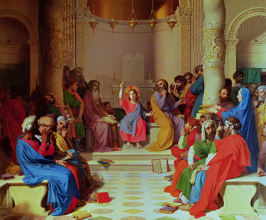 Jesus Painting - Jesus Among The Doctors by Ingres