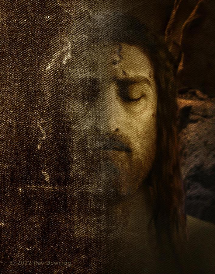 Jesus Digital Art - Jesus and Shroud by Ray Downing
