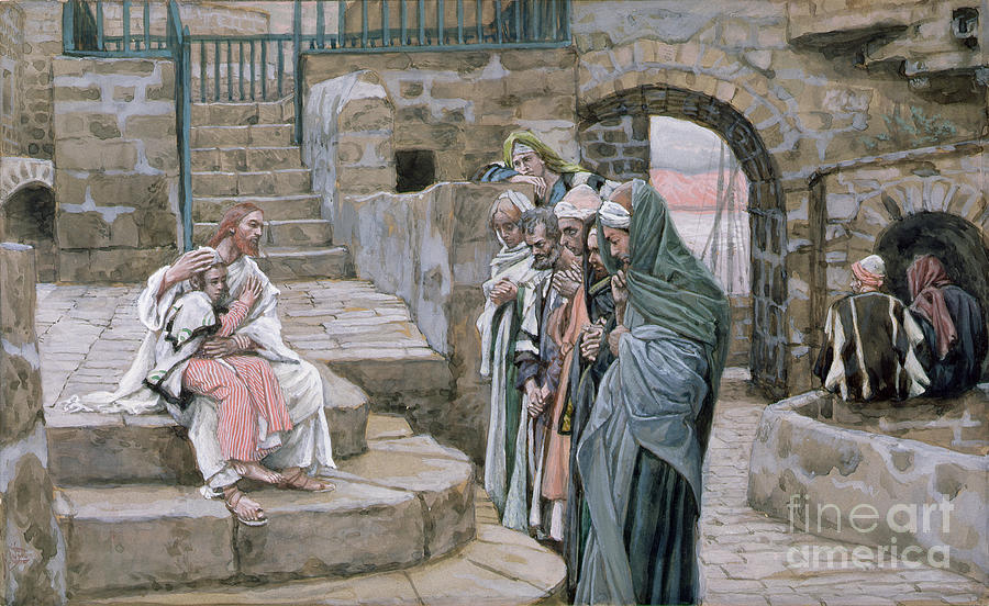 Christian Painting - Jesus And The Little Child by Tissot