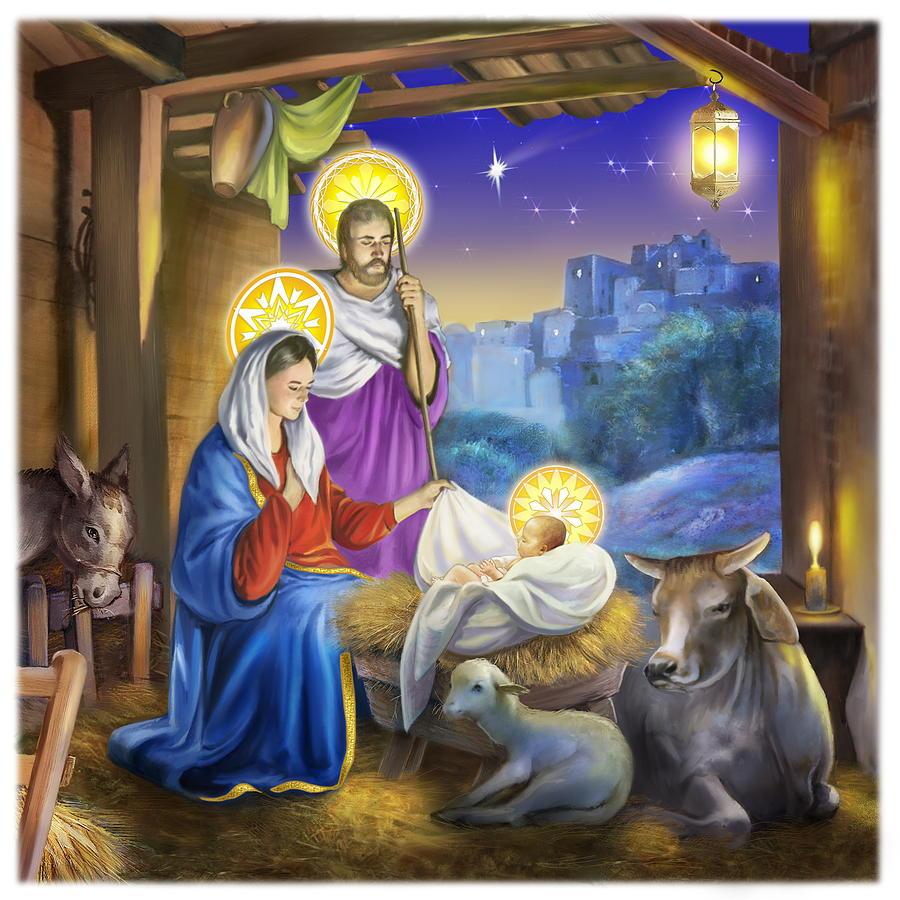 jesus birth painting by patrick hoenderkamp
