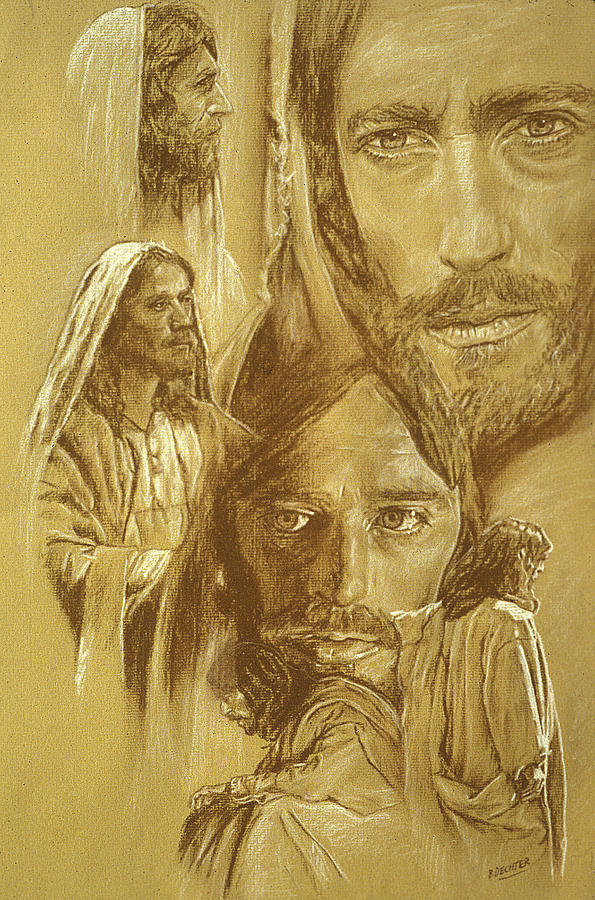 Drawing Drawing - Jesus by Bryan Dechter