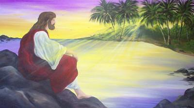 Jesus By The Sea Painting by Brian bellemare