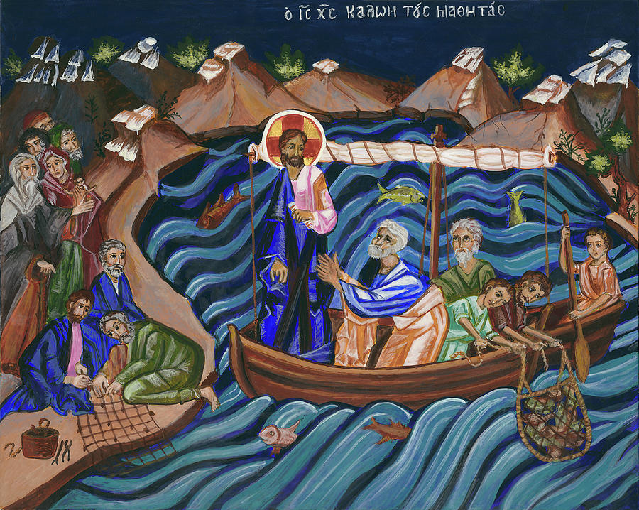 Holy Painting - Jesus Calling the Disciples by Connie Wendleton