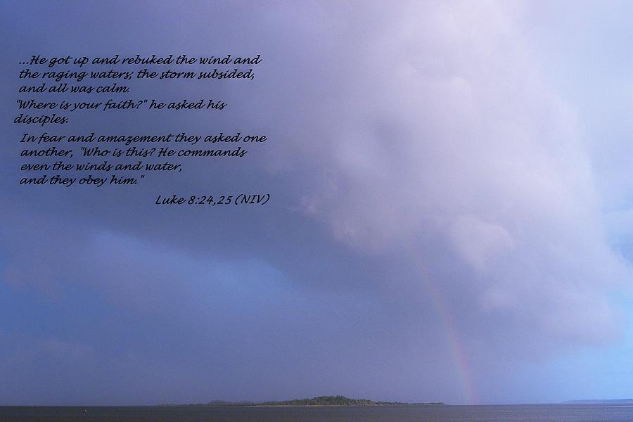 Luke Photograph - Jesus Calms The Storm by Sheri McLeroy