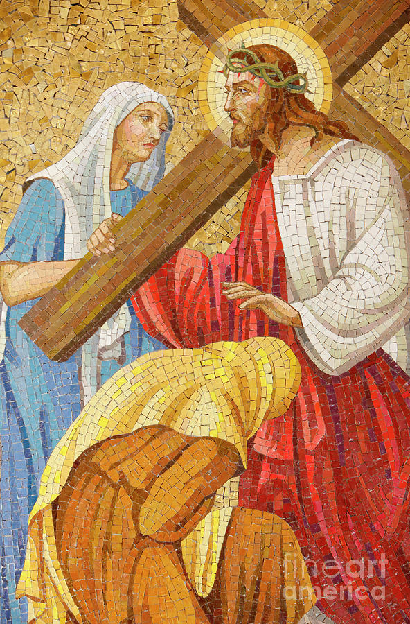 Jesus Carrying The Cross Painting by Unknown