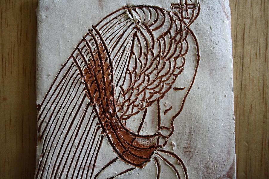 Jesus Ceramic Art - Jesus Christ - Tile by Gloria Ssali