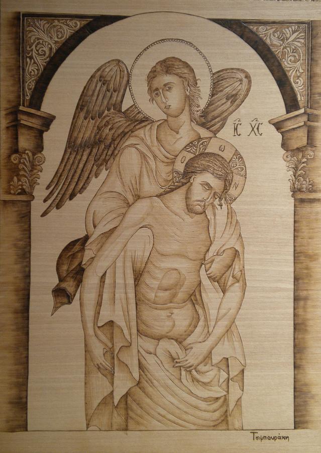 Jesus Christ Painting - Jesus Christ by Katerina Tsibouraki