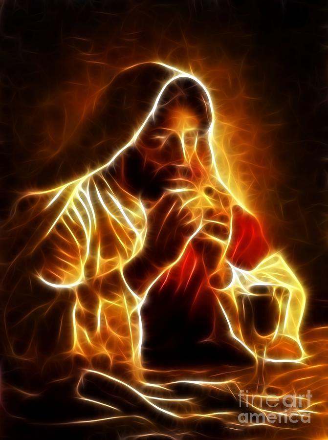 Jesus Christ Last Supper Mixed Media By Pamela Johnson